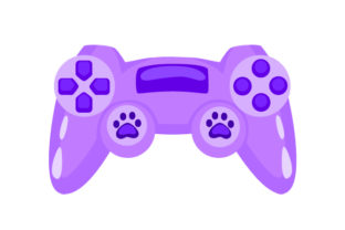 Games Controller with Paws Video Games Craft Cut File By Creative Fabrica Crafts