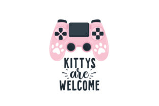 Kittys Are Welcome Video Games Craft Cut File By Creative Fabrica Crafts