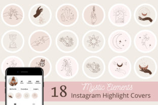 Print on Demand: 18 Mystic Instagram Highlight Covers Graphic Icons By Ayesha Design