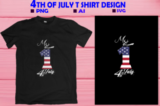 Print on Demand: 4Th July T-shirt Design, My 1st 4th July Graphic Print Templates By T shirt World