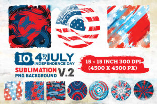 Print on Demand: 4th of July Background Sublimation V.2 Graphic Illustrations By nesdigiart