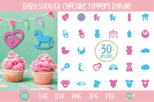 Baby Shower Cupcake Toppers SVG Bundle Graphic Crafts By OyoyStudioDigitals
