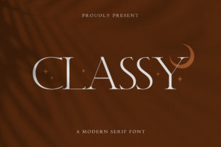 Print on Demand: Classy Serif Font By TypeFactory 1