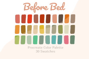 Color Palette Procreate Before Bed Graphic Actions & Presets By Pakka Design Studio