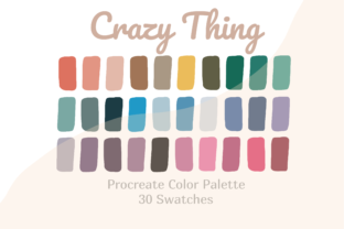 Color Palette Procreate Crazy Thing Graphic Actions & Presets By Pakka Design Studio