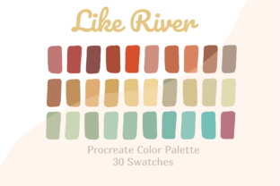 Color Palette Procreate Like River Graphic Actions & Presets By Pakka Design Studio