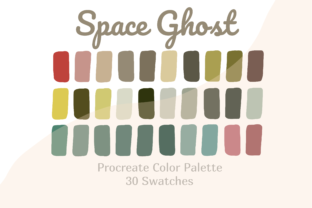 Color Palette Procreate Space Ghost Graphic Actions & Presets By Pakka Design Studio