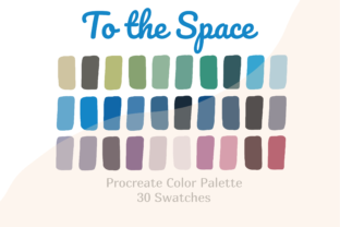 Color Palette Procreate to the Space Graphic Actions & Presets By Pakka Design Studio