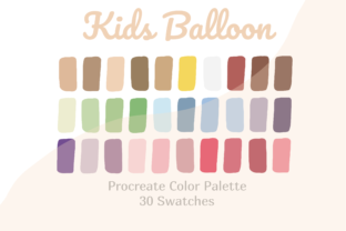 Colorful Palette Procreate Kids Balloon' Graphic Actions & Presets By Pakka Design Studio