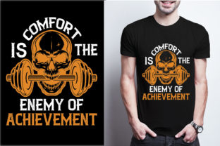Comfort is the Enemy of Achievement Graphic Print Templates By craftbundle