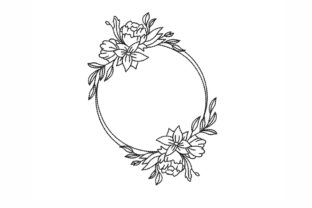Floral Frame Floral Wreaths Embroidery Design By NinoEmbroidery
