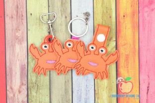 Hard Shell Crab Keyfob Marine Mammals Embroidery Design By embroiderydesigns101