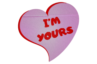 Print on Demand: I'm Yours Heart Wedding Embroidery Design By embroidery dp