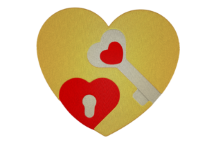Print on Demand: Lock of the Heart Wedding Embroidery Design By embroidery dp
