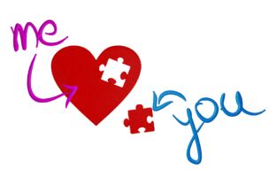 Print on Demand: Love Puzzle Wedding Embroidery Design By embroidery dp