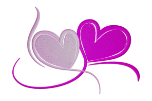 Print on Demand: Love Symbol Wedding Embroidery Design By embroidery dp