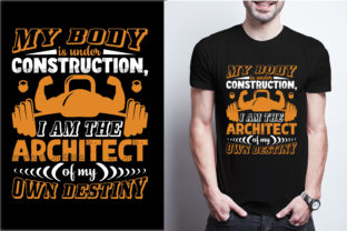 My Body is Under Construction, I Am the Graphic Print Templates By craftbundle