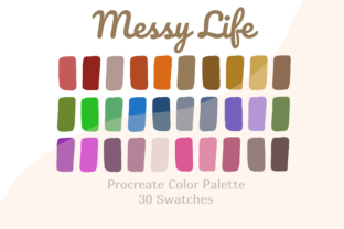 Palette Color Procreate Messy Life Graphic Actions & Presets By Pakka Design Studio