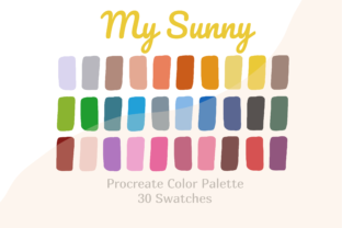 Palette Color Procreate My Sunny Graphic Actions & Presets By Pakka Design Studio