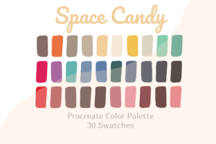 Palette Color Procreate Space Candy Graphic Actions & Presets By Pakka Design Studio
