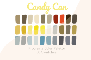 Procreate Color Palette Candy Can Graphic Actions & Presets By Pakka Design Studio