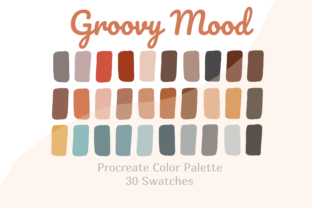 Procreate Color Palette Groovy Mood Graphic Actions & Presets By Pakka Design Studio