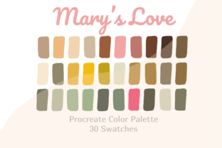 Procreate Color Palette Mary's Love Graphic Actions & Presets By Pakka Design Studio