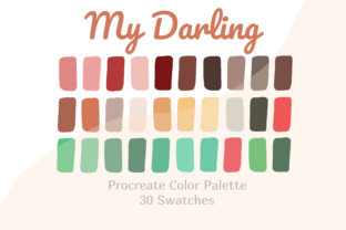 Procreate Color Palette My Darling Graphic Actions & Presets By Pakka Design Studio