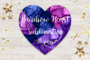 Print on Demand: Sublimation Rainbow Heart Clipart Graphic Backgrounds By PinkPearly 2