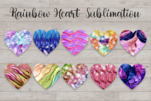 Print on Demand: Sublimation Rainbow Heart Clipart Graphic Backgrounds By PinkPearly 3