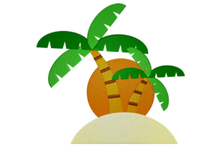 Print on Demand: Summer Island Summer Embroidery Design By embroidery dp