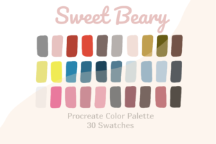 Sweet Beary Color Palette Procreate Graphic Actions & Presets By Pakka Design Studio