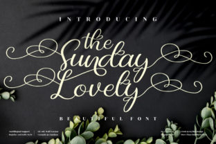 Print on Demand: The Sunday Lovely Serif Fuente Por perspectype