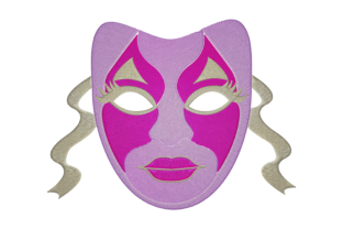 Print on Demand: Theater Mask Dance & Drama Embroidery Design By embroidery dp