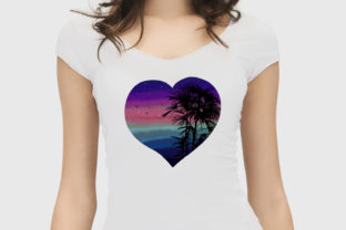 Print on Demand: Watercolor Rainbow Hearts Palm Beach Graphic Illustrations By LerVik 4