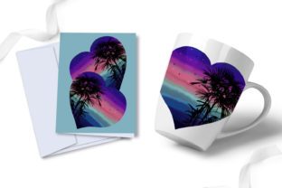 Print on Demand: Watercolor Rainbow Hearts Palm Beach Graphic Illustrations By LerVik 5