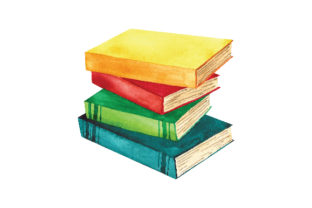 Watercolor Stack of Books Designs & Drawings Craft Cut File By Creative Fabrica Crafts