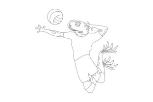 Toad Serving a Volleyball Designs & Drawings Craft Cut File By Creative Fabrica Crafts 2