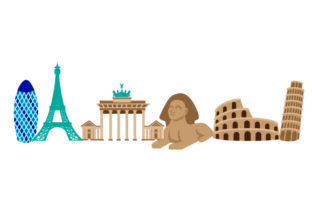 World Landmarks Designs & Drawings Craft Cut File By Creative Fabrica Crafts 1