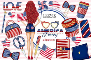 Print on Demand: 4th of July Clipart, Independence Day Graphic Illustrations By LerVik 1