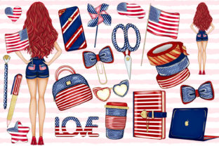 Print on Demand: 4th of July Clipart, Independence Day Graphic Illustrations By LerVik 2