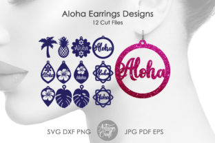Print on Demand: Aloha Jewelry, Laser Earring SVG Files Graphic 3D Shapes By Artisan Craft SVG