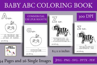 Print on Demand: Baby Alphabet Coloring Book Graphic Coloring Pages & Books Kids By Janet's Art Corner 1