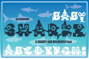 Print on Demand: Baby Sharkz Decorative Font By KtwoP