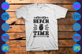 Beach Time Graphic Print Templates By craftSVG