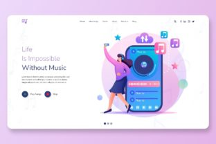 Print on Demand: Best Responsive Music Website Templates Graphic Landing Page Templates By themesfusion