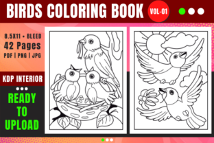 Print on Demand: Birds Coloring Book for Kids | Vol-01 Graphic Coloring Pages & Books Kids By Merch Rain