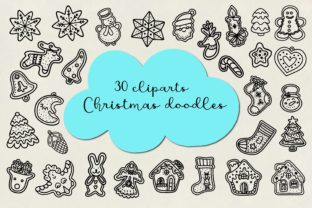 Print on Demand: Christmas Bundle SVG,Gingerbread,cookies Graphic Illustrations By Art's and Patterns