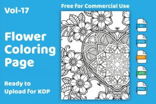 Flower Coloring Book Floral KDP Interio Graphic Coloring Pages & Books Adults By Golam Kader Riad