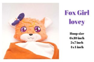 Fox Lovey Girl Woodland Animals Embroidery Design By Garden of designs